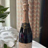 Bottle of sparkling rose