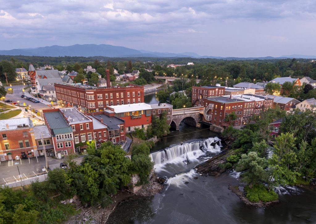 middlebury vt waterfalls downtown