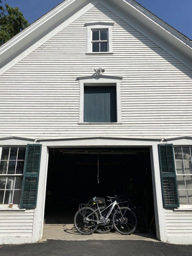 bikes parked in the Swift House Inn gate house
